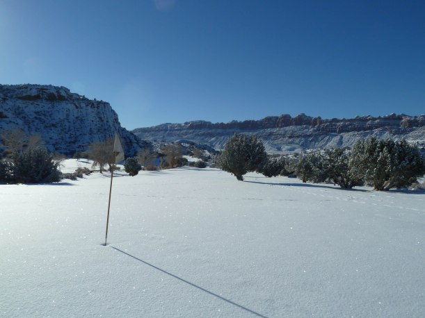 Moab Golf Course in the Snow Photo by Ron Day