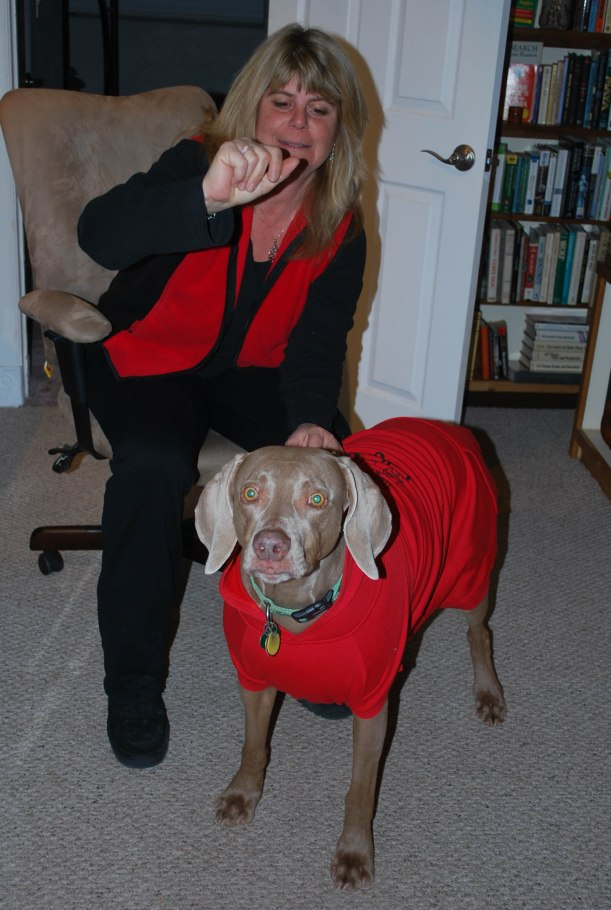 "She is thinking ""this is a stupid red jacket"" Photo by Ron Day"